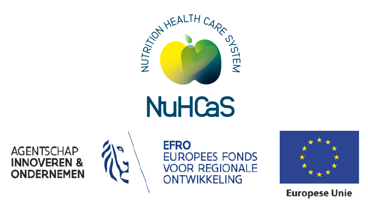 NuHCas en EFRO en Hermes logo's