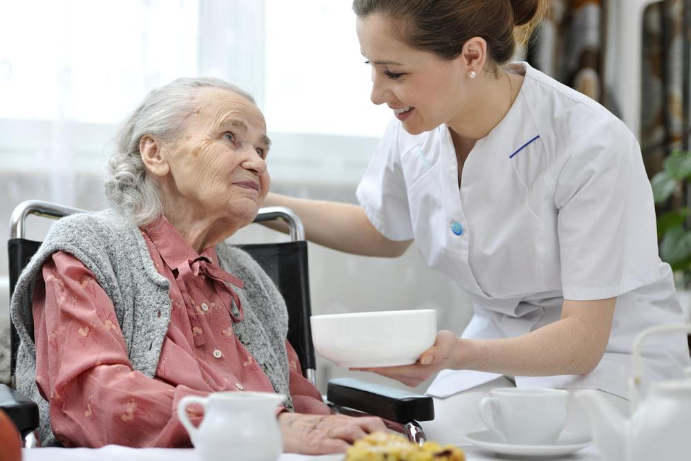 Oudere in woonzorgcentrum