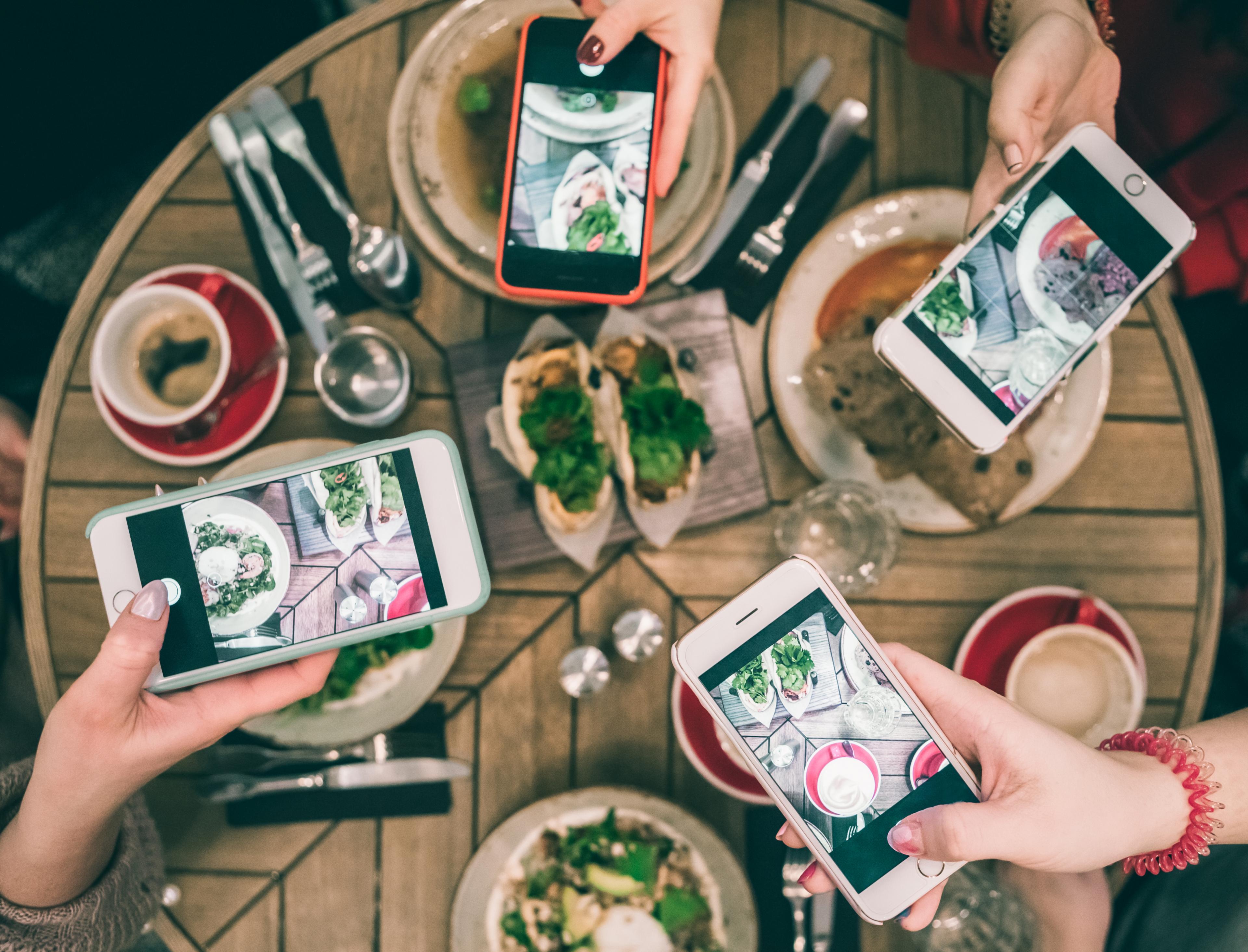 Smartphones instagram eten