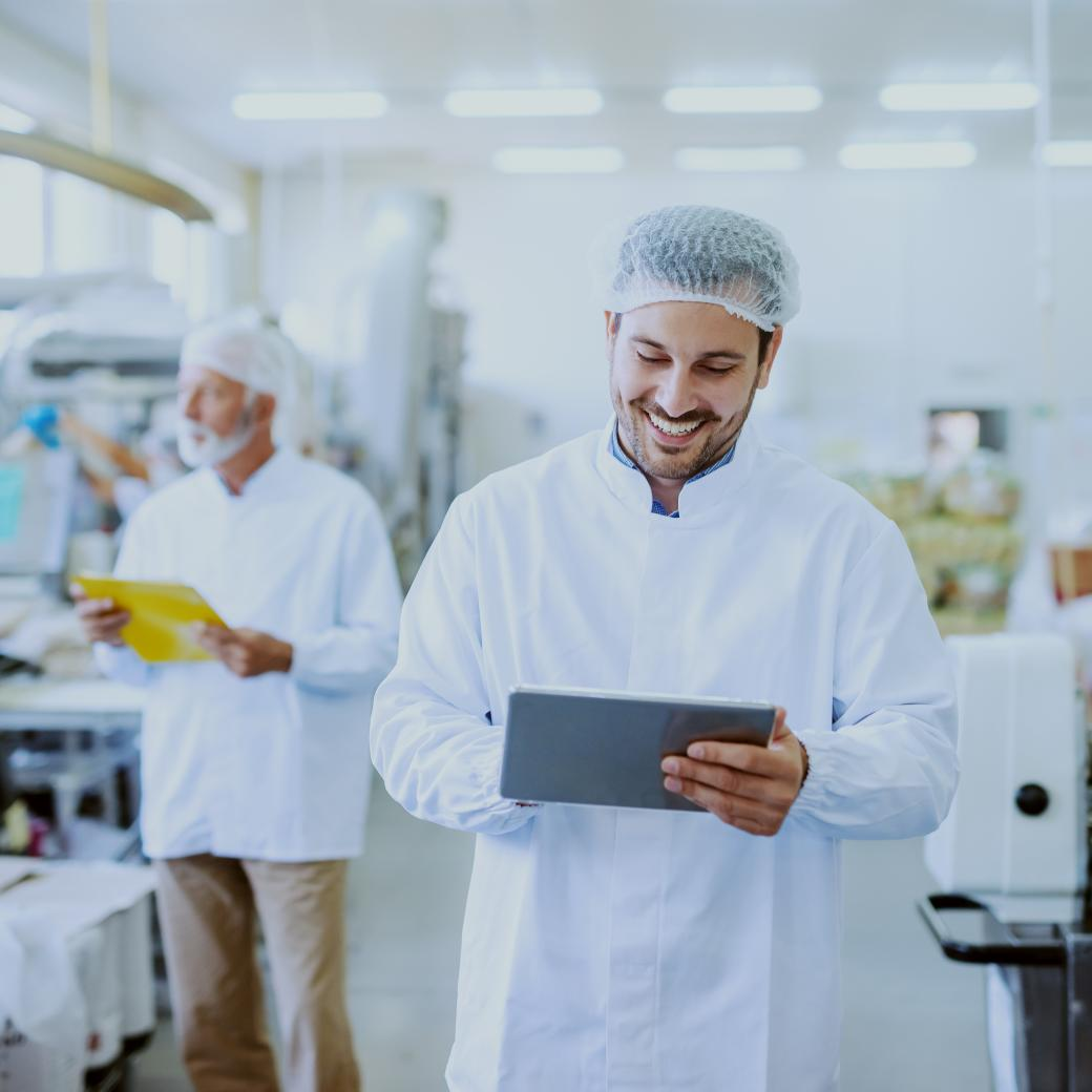 Productie controle via tablet