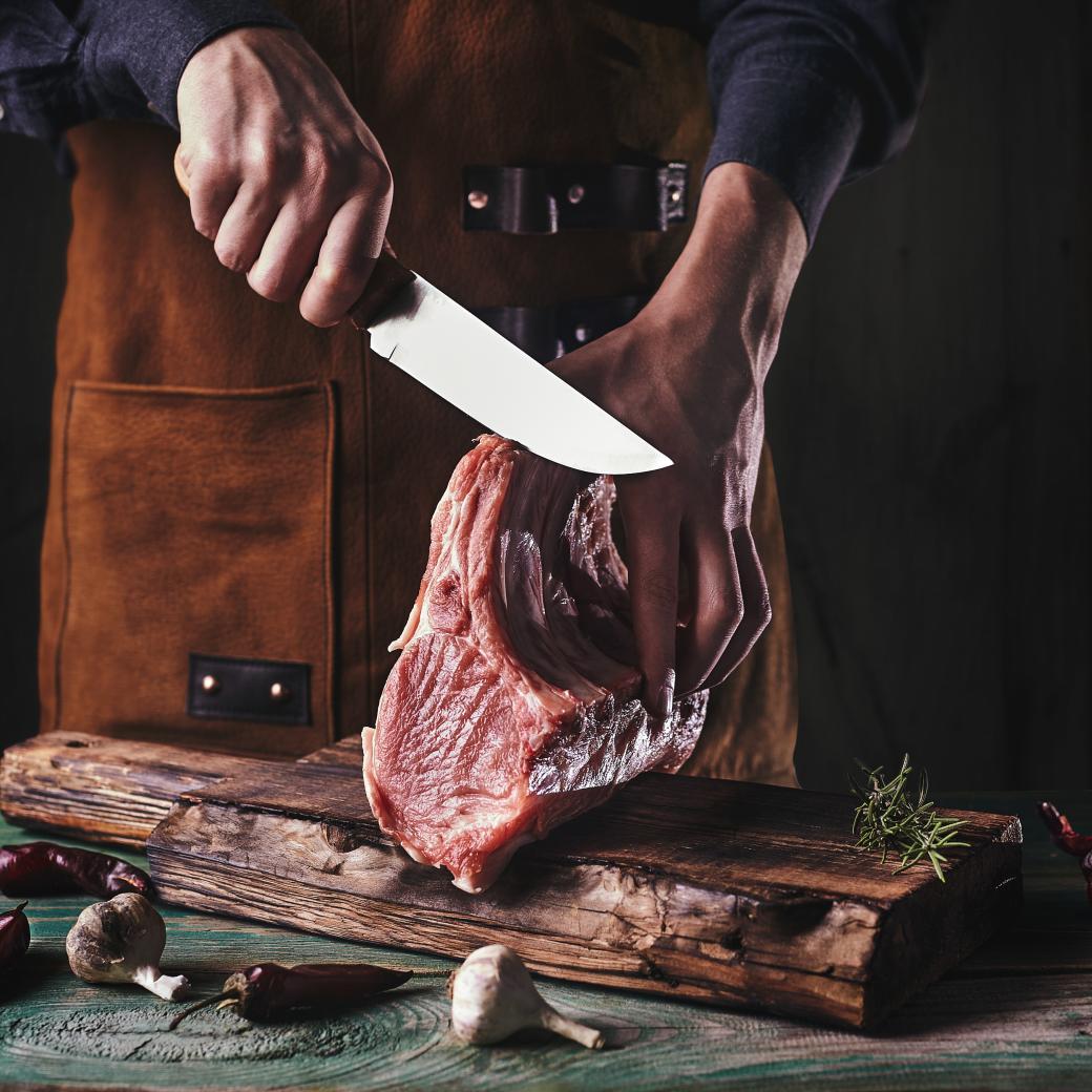 Vlees snijden